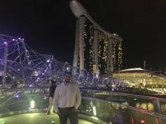 a turist in singapore