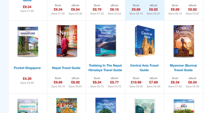 Lonely Planet Up, up and away sale: 45% off everything! Last day!