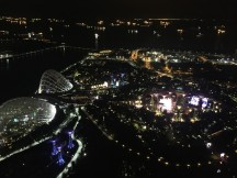 from singapore rooftop by night