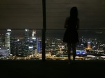 girl in singapore by night