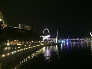 marina bay singapore by night