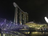 sands hotel singapore night