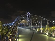 singapore brige by night